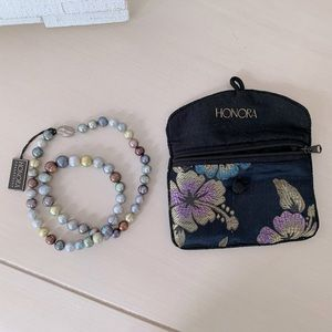 Honora Ringed Pearl Necklace NWT
